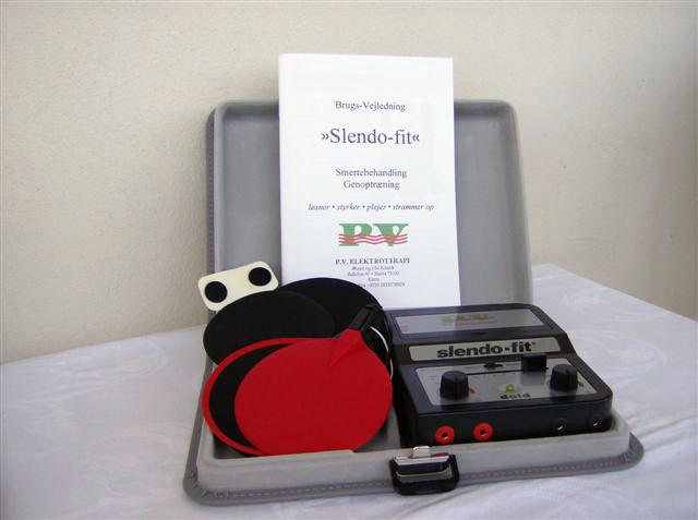Slendo-Fit standard udstyrspakke. Kan bruges til elektroterapi og andrer former for behandlinger