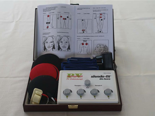 Slendo-Fit standard equipment package. Can be used for electrotherapy and other types of treatments